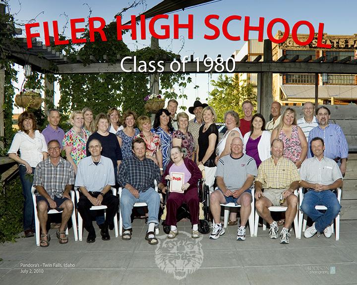 Class of Filer High School 1980 in 2010.