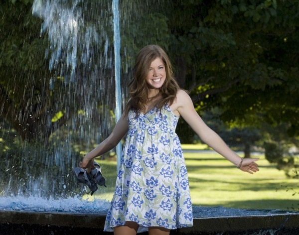 Kalie on location at the CSI campus.
