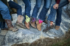 A family picture outdoors on  location by Addison Photography.