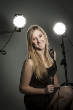 Kelsey at the studio.