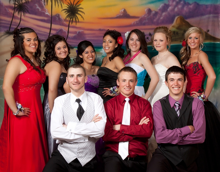 Prom picture by Addison Photography in Twin Falls.