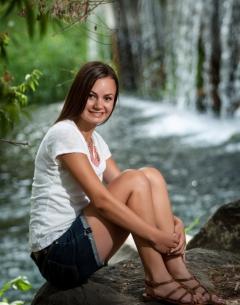 Sarah near Niagara Springs in the Snake River Canyon.