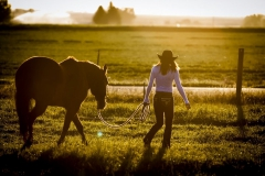 Savannah on location with her horse North of Gooding.