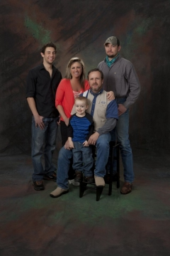A family picture in the studio at Addison Photography.