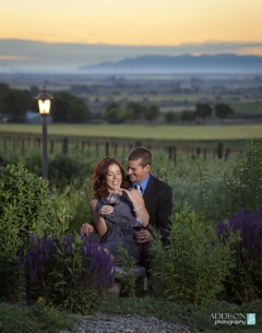 The remains of a beautiful evening at Snyder Winery in Idaho's Magic Valley.