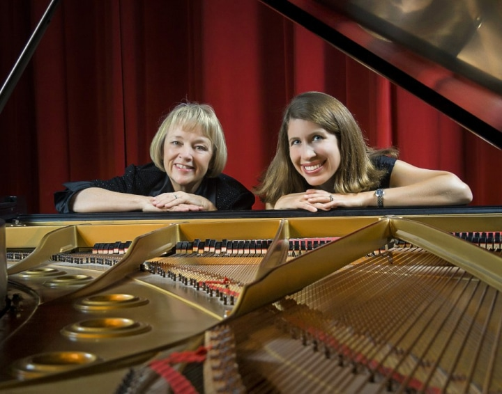 Sue and Allison, concert pianists.